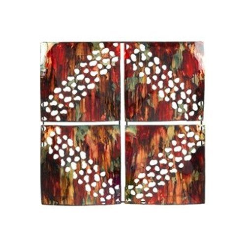 Four Squared Red Deco Wall Art
