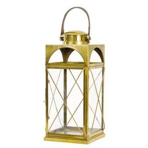 Artisanti Antique Brass Candle Lantern - Medium