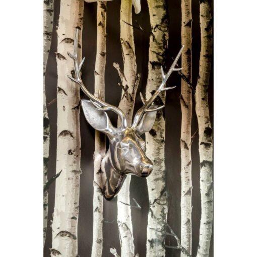 Shiny Aluminium Deer Head