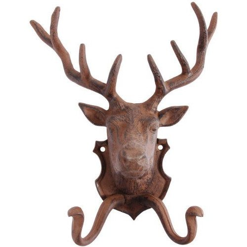Cast Iron Stag Wall Hook