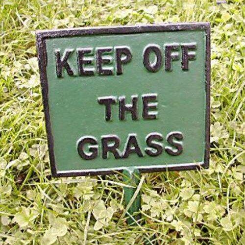 Modern Cast Iron Keep Off The Grass Sign