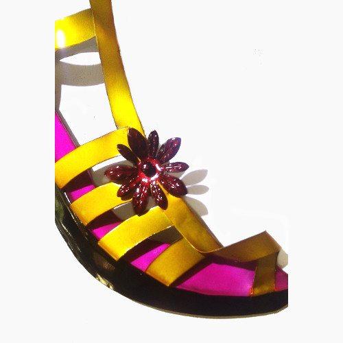 Pink & Yellow Sandal