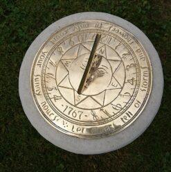 Compass Point 195mm Brass Sundial