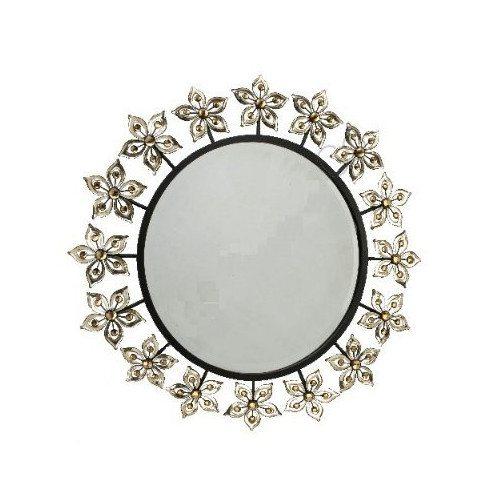 Round Acrylic Flowers Mirror