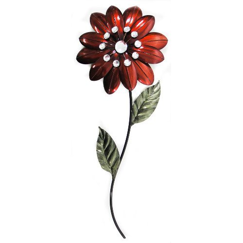Red Diamante Flower