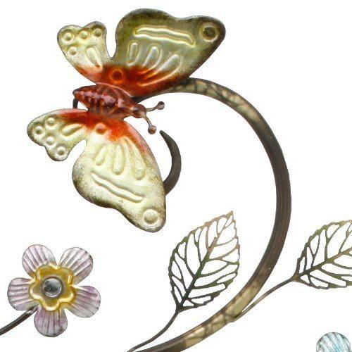 Juliana Butterfly Sculpture Wall Clock