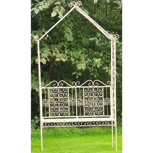White Old Rectory Bench With Arch