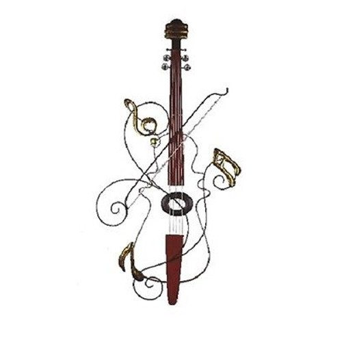 Wire Violin Notes Wall Art