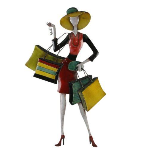 'Summer Shopping Posing Lady' Wall Art