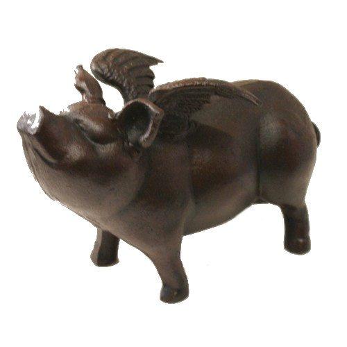 Marvells Flying Pig, Cast-Iron, Brown, 27 x 13 x 17 cm