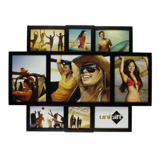 Unigift Collection Wooden Photo Frame - 9 Picture Collage