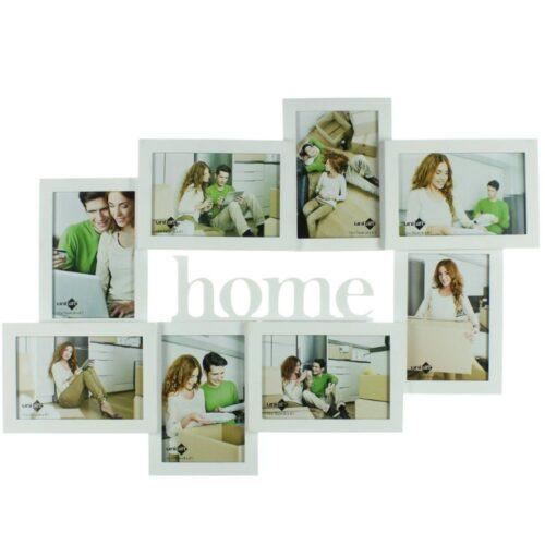 White Wooden Home Photo Frame