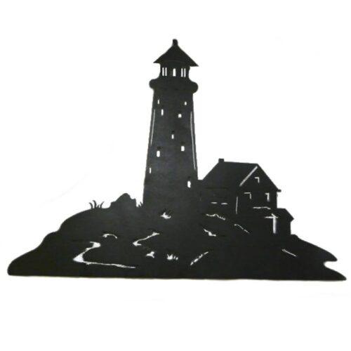 Lighthouse Silhouette Wall Art