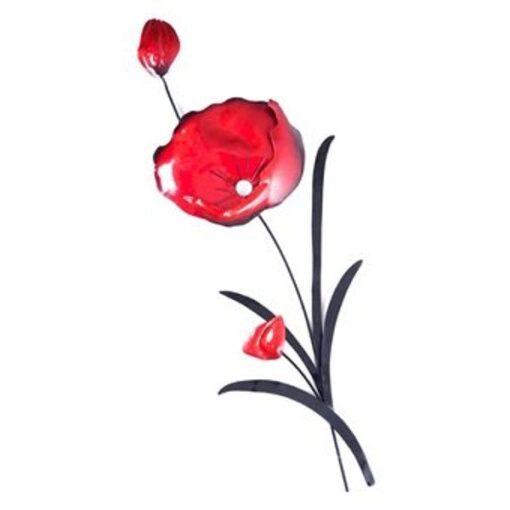 Red Poppy Flower Bunch