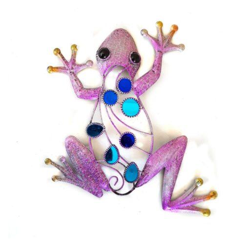 Purple Glitter Frog Wall Art