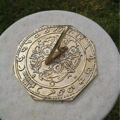 Morning Glory 136mm Octagonal Brass Sundial