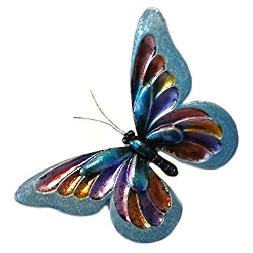 'Blue Glitter Butterfly' Wall Art - Large