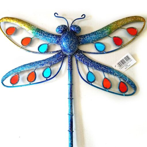 Blue Glitter Dragonfly Large