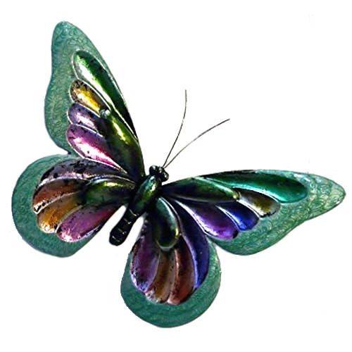 'Green Glitter Butterfly' Wall Art – Large