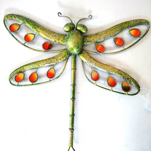 Green Glitter Dragonfly Large