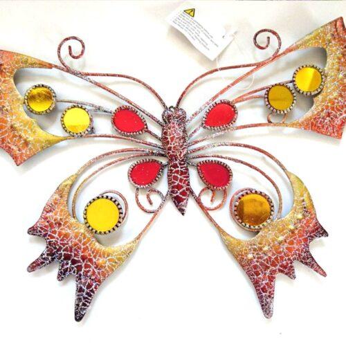 Orange Glitter Butterfly