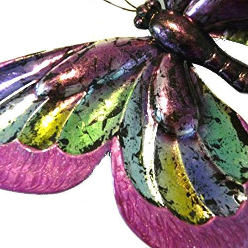'Pink Glitter Butterfly' Wall Art - Large