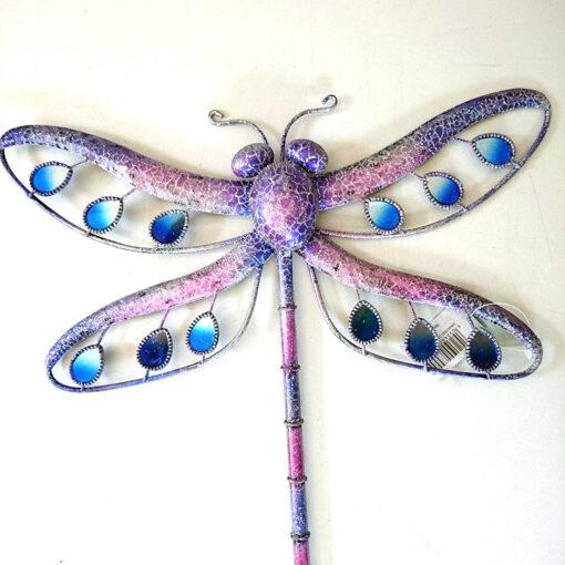 'Purple Glitter Dragonfly' Wall Art (Large)