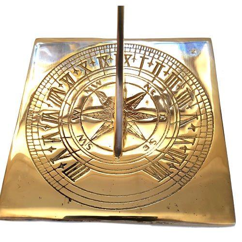 Square Compass Brass Sundial