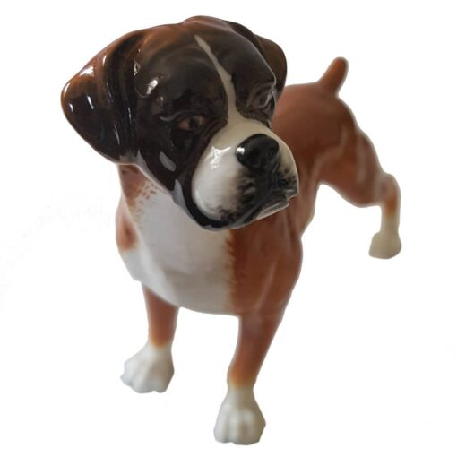 Porcelain Boxer Dog Standing Boxed