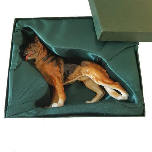 Porcelain German Shepherd Standing Boxed