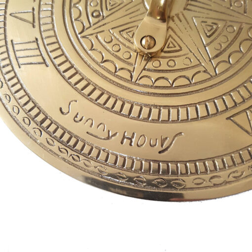 Sunny Hours 195mm Brass Sundial Brass Sundial