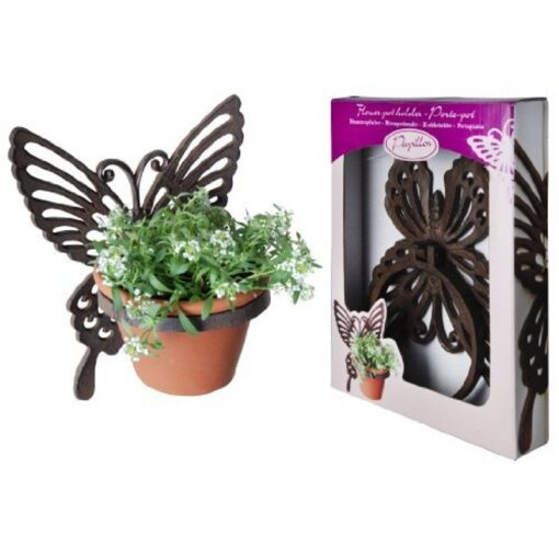 Cast Iron Butterfly Plant Pot Holder
