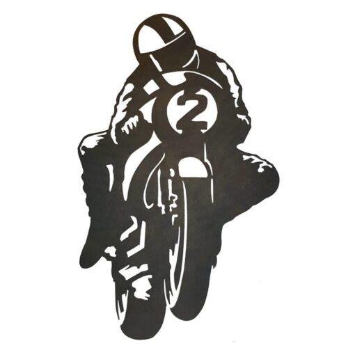 Biker Silhouette Wall Art