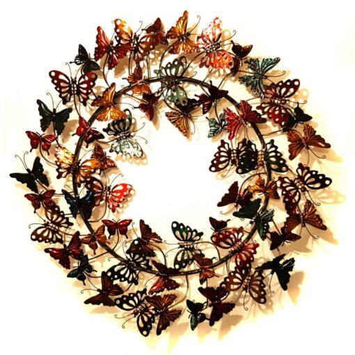 Butterfly Wreath Wall Art