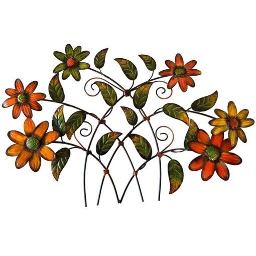 Branch of Daisies Metal Wall Art