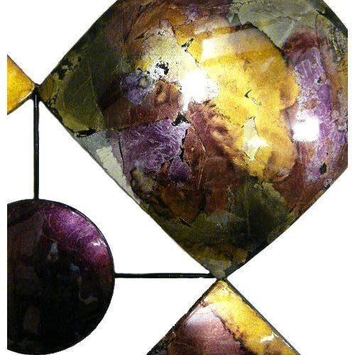 Purple Diamonds and Circles Abstract