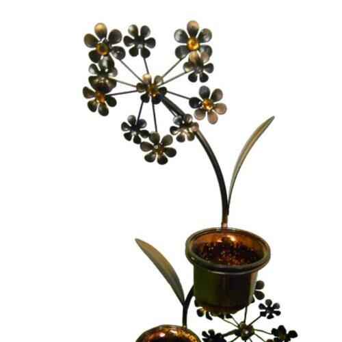 Copper Flower Tree Tealight Holder