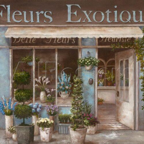 Glass Print 'Fleurs Exotique' Wall Art