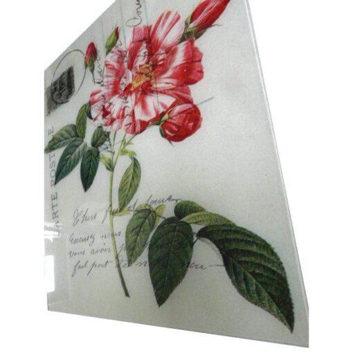 Glass Print 'Post Card I' Wall Art