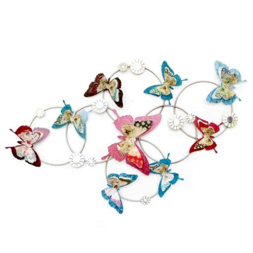 Colourful Butterflies Ring Swirl