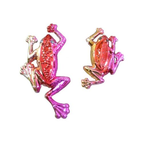 Set of Two Red Tree Frogs