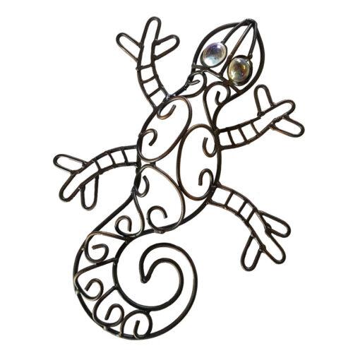 Small 'Iron Gecko Lizard Hook' Wall Art