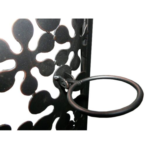 Black Floral Candle Holder Wall Art