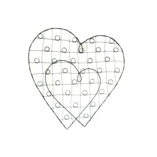 Double Heart Card Holder