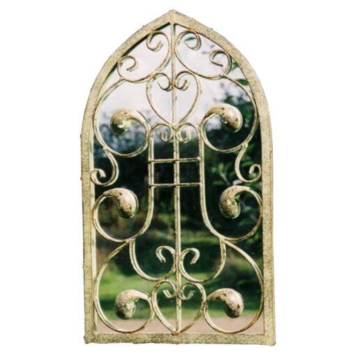 Gothic Leaf Window Mirror