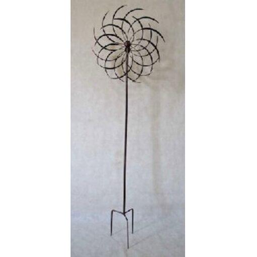 Standing Iron Spiral Garden Wind Spinner