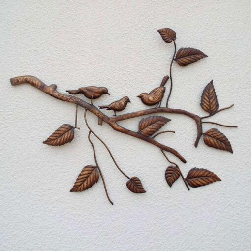 Bronze Birds on Branch