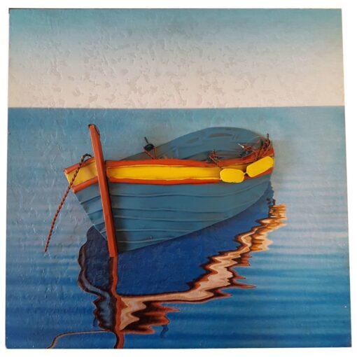Blue Boat Scene
