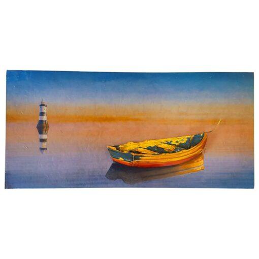 Yellow Boat Scene