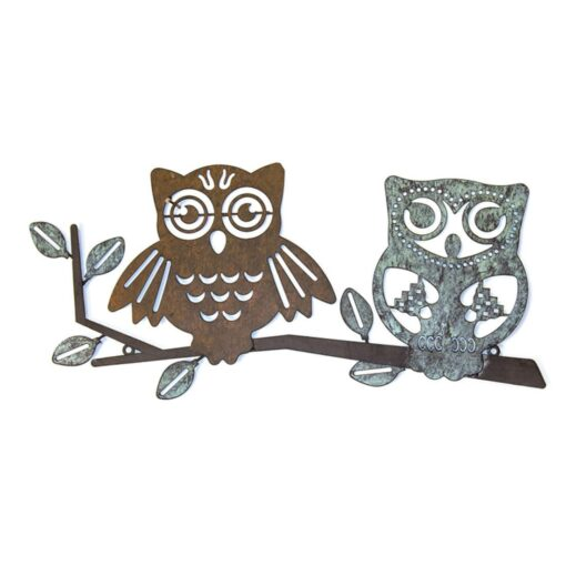 Two Owls on Branch